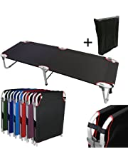 Magshion Portable Military Fold Up Camping Bed Cot + Free Storage Bag- 7 Colors