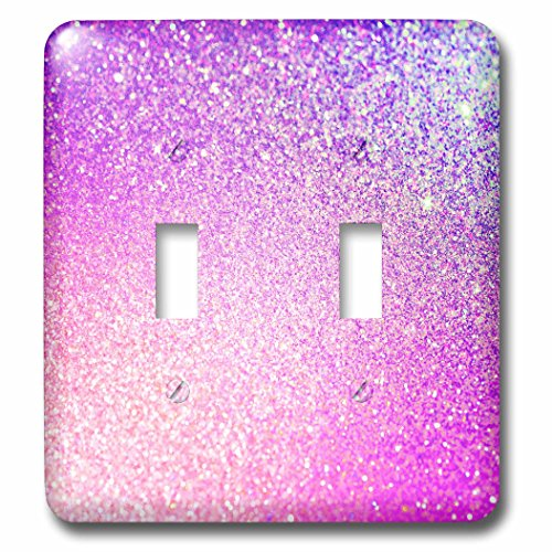 3dRose lsp_252116_2 2 Pink Diamond Luxury Glimmer Shiny-Double Toggle Switch by 3dRose
