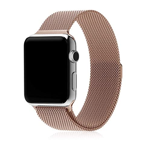 DAM DMX187RG - Correa metálica para Apple Watch (38 mm) Color Oro Rosa