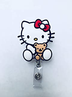 a6cf9a742 Swivels - Cartoon Retractable Badge Reel - Holder for ID and Name Tag with  Alligator Clip