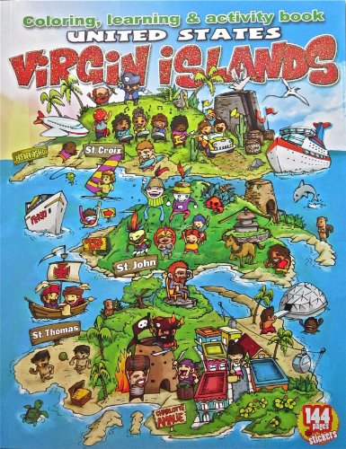 Children's Coloring, Learning & Activity Book United States Virgin Islands ( USVI ) St. Thomas, St. Croix and St. John (History Of St Thomas Us Virgin Islands)