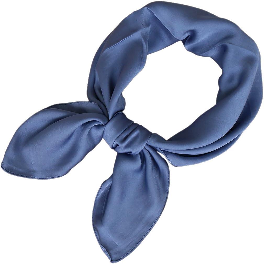 LMVERNA Square Satin Scarf for Women Polka Dot Ribbon Scarves 27 by 27 Inch
