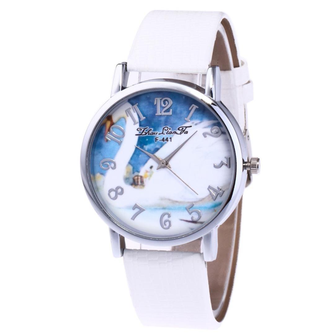 レディースクォーツ腕時計、Sinmaシンプルレトロ腕時計アナログクォーツレザーブレスレット腕時計 B0727XCZ6V