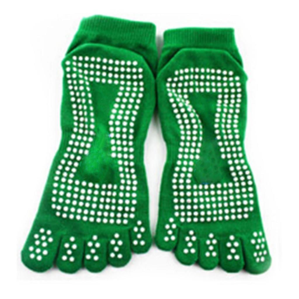 DDU Nouveau Gym Sport exercice de yoga chaussette antidérapant en coton Green