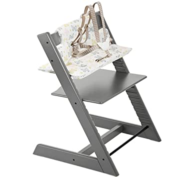 Superbe Stokke Tripp Trapp Highchair U0026 Tripp Trapp Cushion Sweet Butterfly (Storm  Grey )