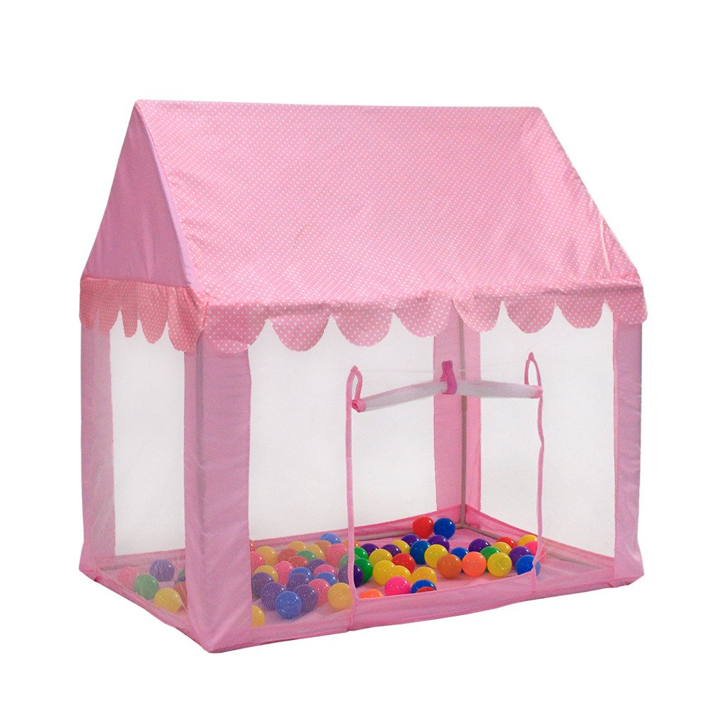 VicWoo Kids Princess Play Tent, Children Playhouse Castle Tent,Boys and Girls Personal Playing Zone (Balls& Lights not included)