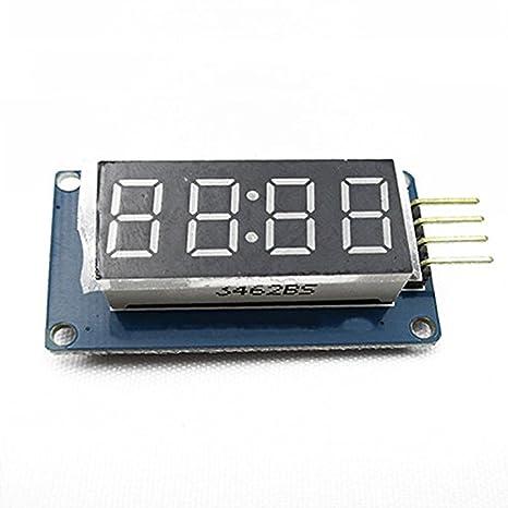 4 Tubo Bits TM1637 digital LED de visualización de reloj Módulo para Arduino UNO Debido 2560