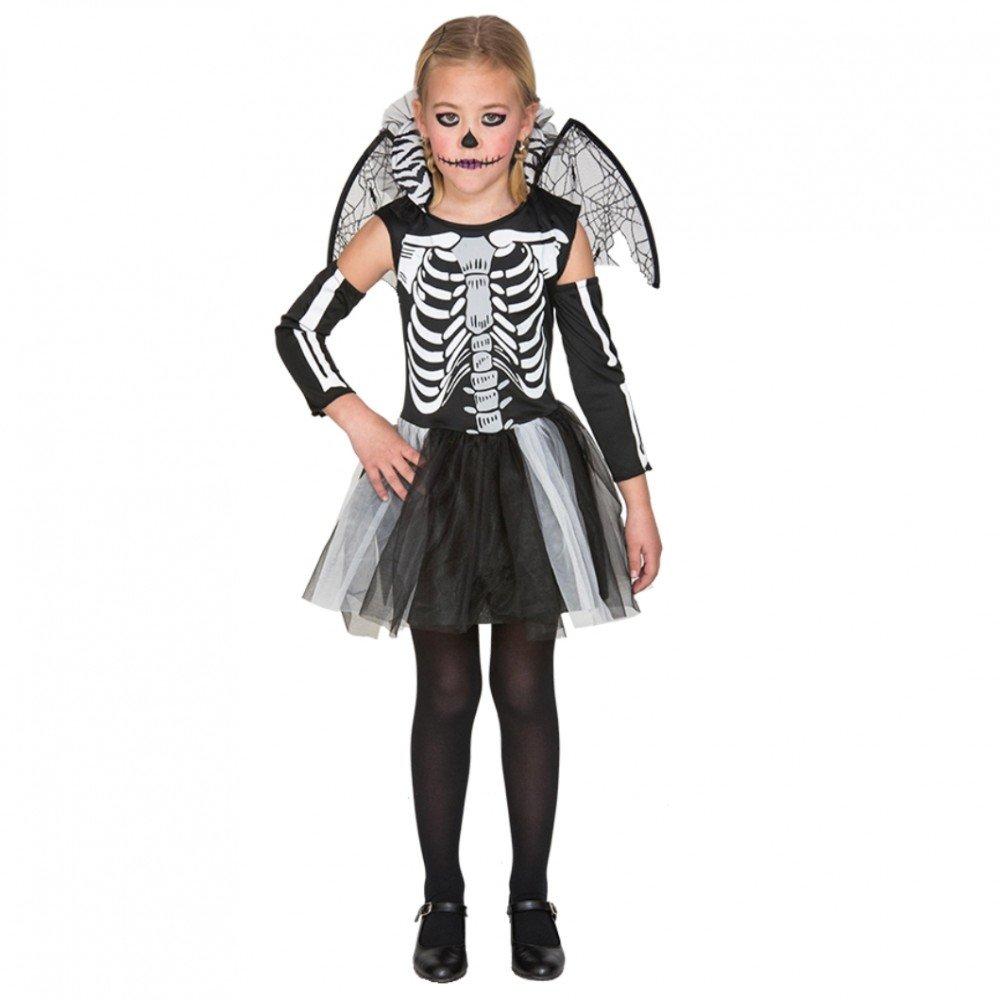 Fyasa 706459-T03 - Disfraz de Esqueleto para niña de 10 a 12 años,, tamaño Mediano