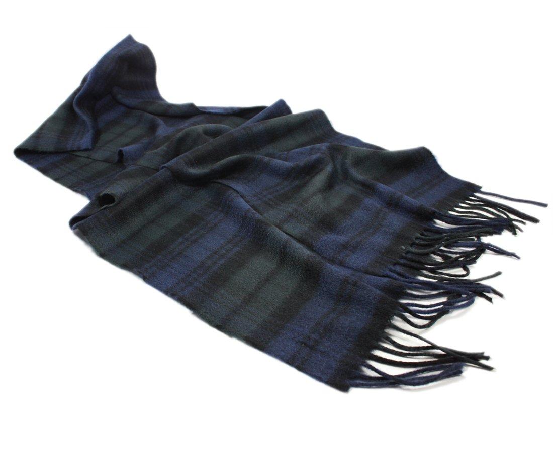 Lochcarron Of Scotland Extra Fine 100% Cashmere Tartan Scarf Black Watch : Mod (One Size)