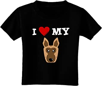 TooLoud I Heart My Dachshund Infant T-Shirt Dark