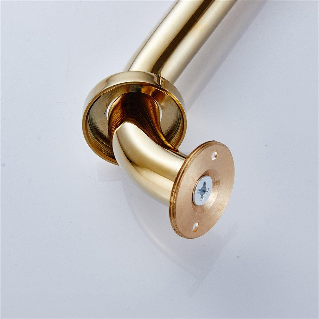 CASEWIND lat/ón s/ólido de alta calidad multifuncional ba/ño /& ducha de barra acabado en oro, montado en la pared para ba/ño Bedroon Royal 11,8/pulgadas, lat/ón, Antique Brass Finish, 11.8 inch