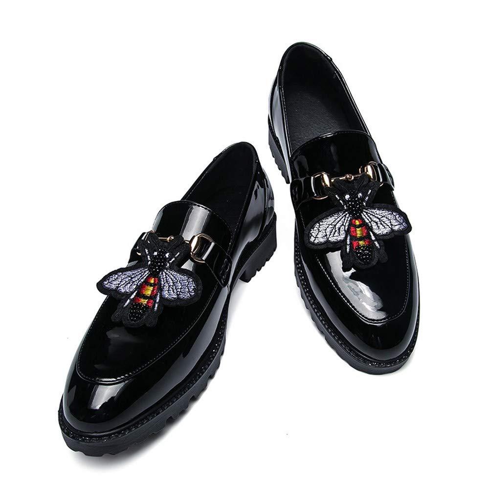 AKJC Business skor Man svart herrar Platform läder Dress skor skor skor Lyxry herrar Dress skor  till salu 70% rabatt