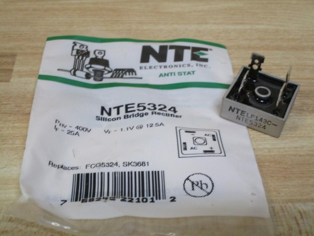 NTE Electronics Inc. NTE5324 Bridge Rectifier 25A 400V