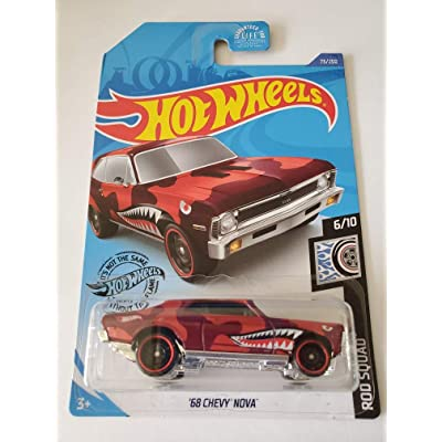 Hot Wheels 2020 Rod Squad '68 Chevy Nova, Red 73/250: Toys & Games