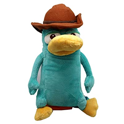 PLUSH TOY Perry The Platypus Agent P. Medium Size w/Secret Pocket (13in): Toys & Games