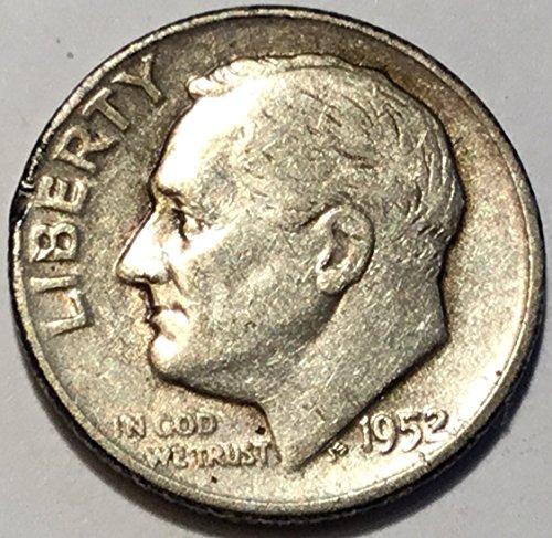 1952 Silver Dime - 1952 D Roosevelt Dime Fine