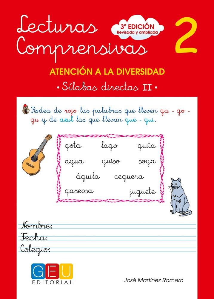 Lecturas comprensivas 2 - Sílabas Directas II Tapa blanda – 15 abr 2010 José Martínez Romero Editorial GEU 8499151337 2104425