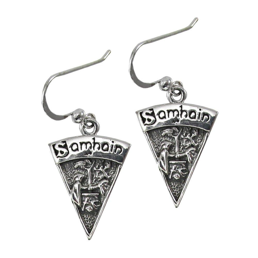 Sterling Silver Samhain Wiccan Sabbat Dangle Earrings DD-TE-2837