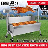 OrangeA BBQ Pig Lamb Rotisserie Roaster Skewer Roast Grill Motor 110V 23W BBQ Portable Picnic Outdoor Cooker Grill (Capacity 132 Lbs/60KG)