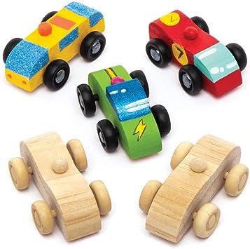 Baker Ross Kit de coches hechos de madera (Pack de 5) - Actividad ...