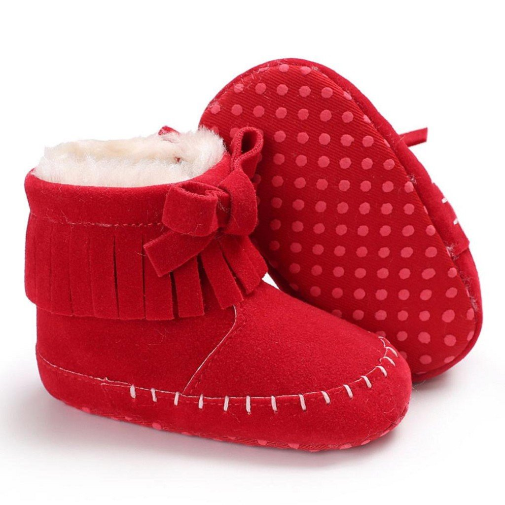 Creazrise Baby Girl Soft Sole Booties Snow Boots Infant Toddler Newborn Warming Shoes