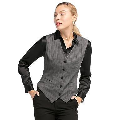 LilySilk Wool Blend/Silk Waistcoat Women Suit Vest V Neck