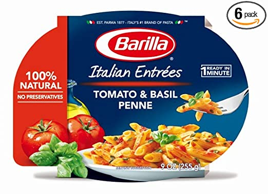 Barilla Italian Entrees, Tomato & Basil Penne, 9 Ounce (Pack of 6)