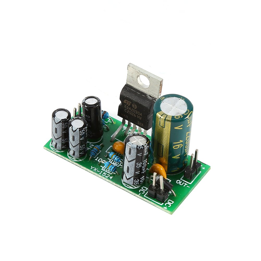 Tda2030a Single Power Supply Mono Amplifier Board Audio Frequency 20w Based Lm1875 Module With Heatsink 18w Dc 9 24v Diy Kit Industrial Scientific