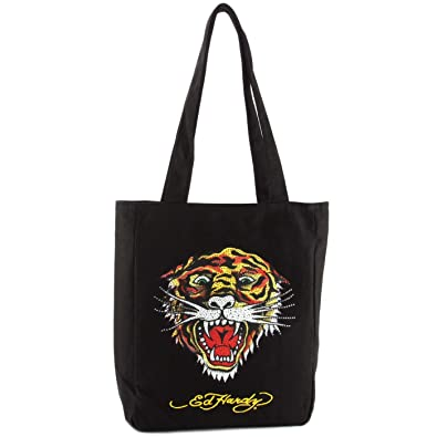 28cad32164fe Ed Hardy Ness Tiger Tote- Black  Amazon.co.uk  Shoes   Bags