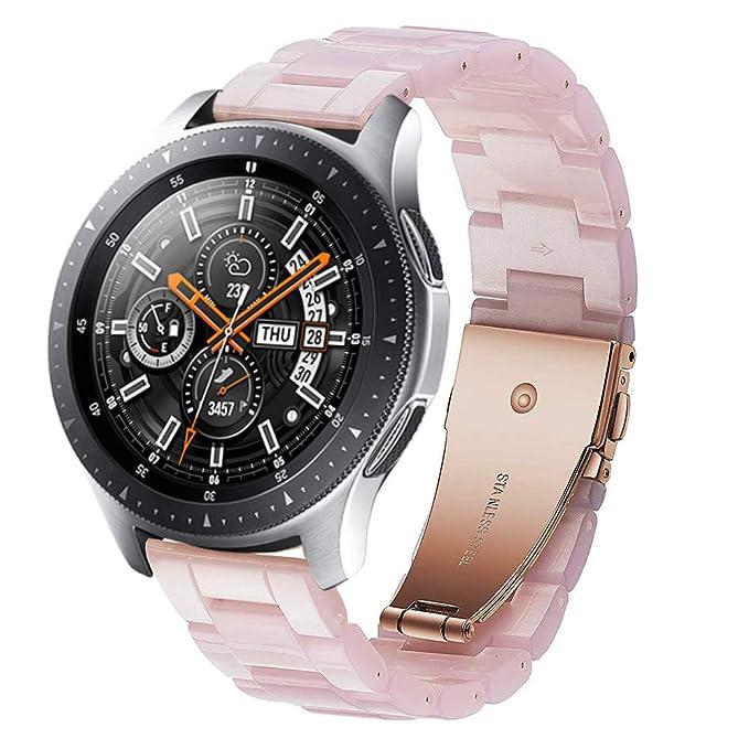 SUNDAREE Compatible con Correa Galaxy Watch 46MM/Gear S3 Frontier/Classic,22MM Ultraligero Resina Reemplazo Correa Band Pulsera de Repuesto para ...
