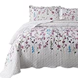 quilts coverlets - Bedsure Printed Quilt Coverlet Set King(106