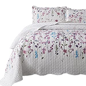 Bedsure Printed Quilt Coverlet Set Full/Queen(86