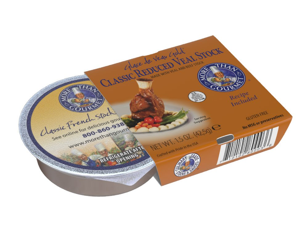 More Than Gourmet Glace De Veau Gold, Reduced Veal Stock, 1.5 Ounce (Pack of 6)