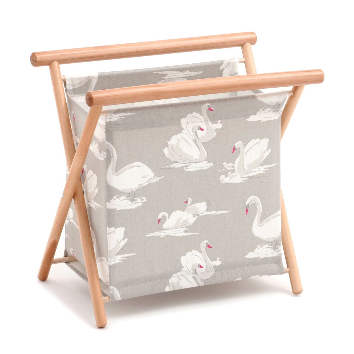 Hobby Gift Swans Pebble Sewing Basket 23 x 36 x 36cm d//w//h