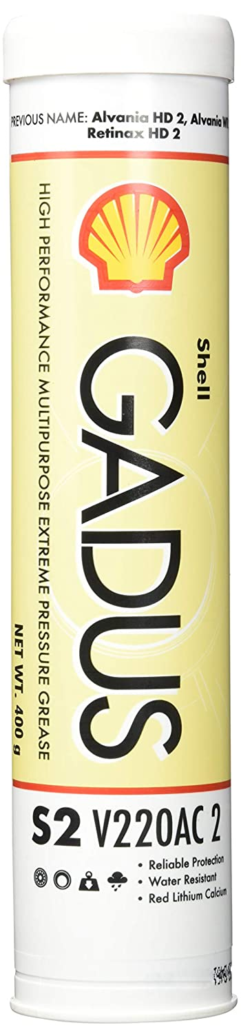 SHELL GADUS S2 V220AC 2 HIGH PERFORMANCE MULTIPURPOSE EXTREME PRESSURE GREASE 400GM 550028044