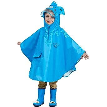 Bwiv Regenponcho Kinder Unisex Wasserdicht Atmungsaktiv Regenmantel Leicht Hautfreundlich Regenbekleidung Regen Overall Regen