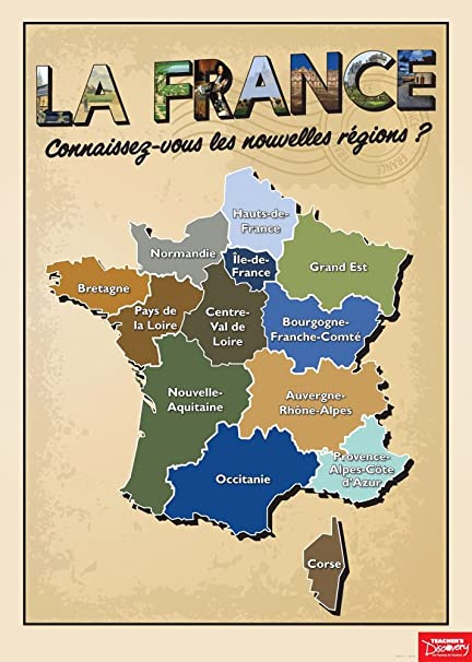 Amazon.com : French Regions Poster : Office Products