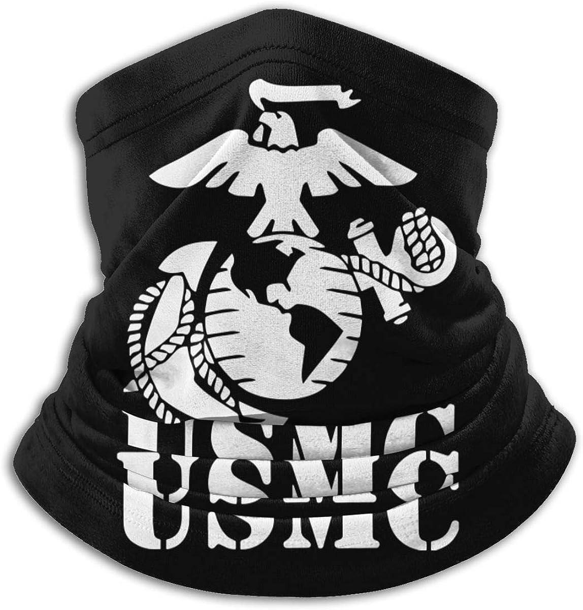 Eagle Globe Anchor USMC Calentador de cuello Bufanda Polaina Mascarilla Bandanas para polvo Clima frío Invierno al aire libre Festivales Deportes para hombres y mujeres