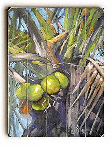 Coconut Palm Wood Sign 9x12 (23cm x 31cm) ()