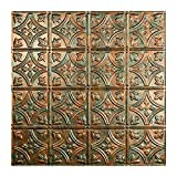 Fasade Easy Installation Traditional 1 Copper Fantasy Lay In Ceiling Tile/Ceiling Panel (2' x 2' Tile)