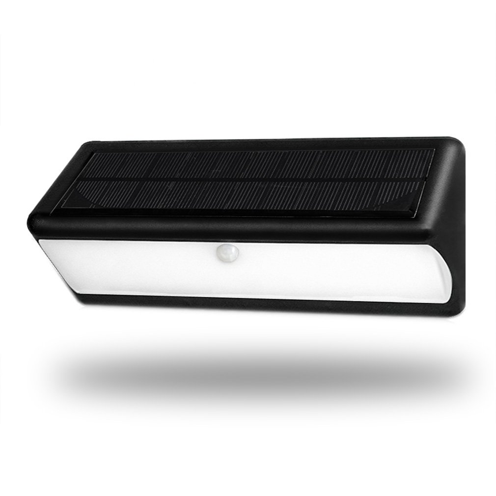 Mayiebuy 43LED Super Bright Outdoor Solar Power Motion Sensor Wall Lights Wide Angle Security Wireless Waterproof Can Be installed nondestructively by a woven belt or magnetic adsorption(Black)