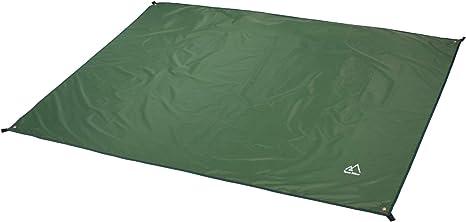 Terra Hiker Toldo de Camping al Aire Libre Alfombra de Picnic Lona de Tienda de Campaña con Bolsa para el Transporte (Verde Oscuro 150x220cm)