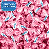 HERSHEY'S KISSES Candy Light Pink Foiled Milk Chocolate - Bulk Candy - (Light Pink, 1lb)