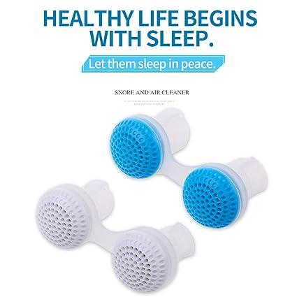 ZPPLD Anti-ronquidos Suave Silicona Nasal dilatador Tubo de Snorkel tapón 2 tamaño cómodo Traje