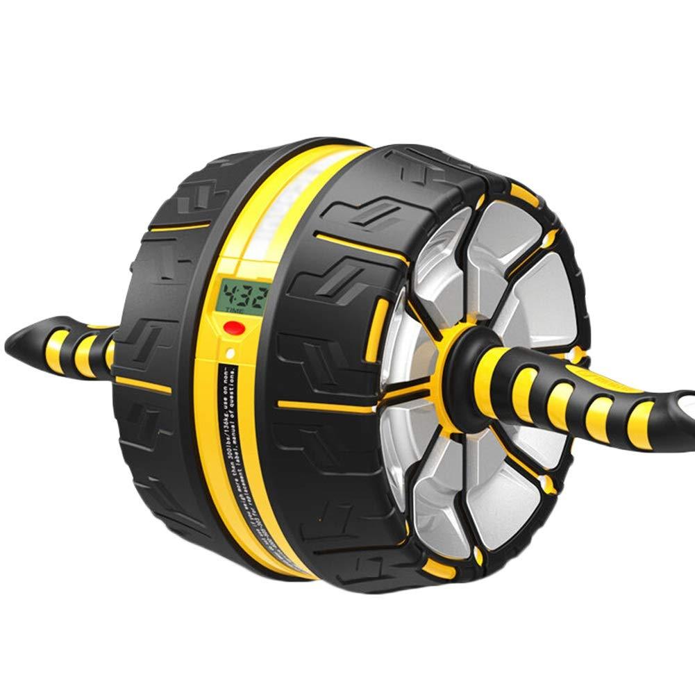 JIANFEI アブホイール電子ディスプレイ 滑り止めハンドル ジムの設備 耐荷重性 300KG 、2色 (色 : イエロー いえろ゜, サイズ さいず : 45x16x23.5cm) 45x16x23.5cm イエロー いえろ゜ B07NNX2QH1