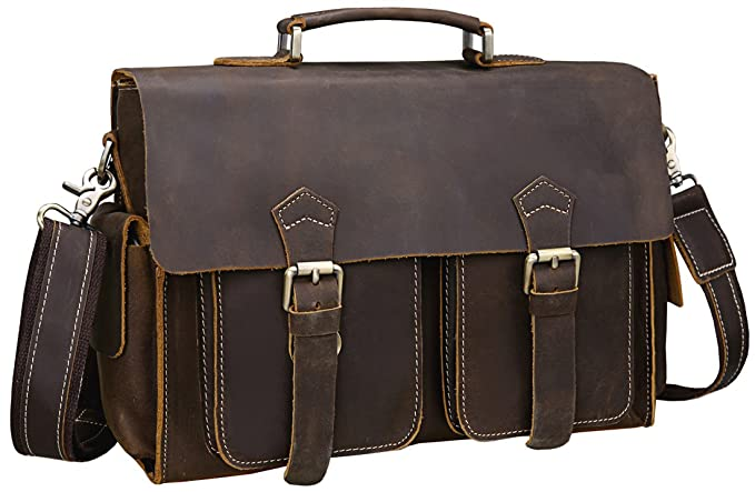 407b47e57320 Amazon.com  Iswee Vintage Leather Messenger Bag 13.3