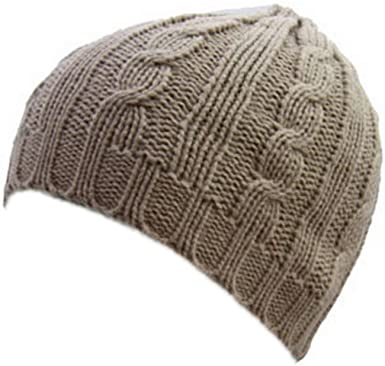 Raintopia New Womens Ladies Chunky Cable Knit Beanie Hat In Assorted Colours  Winter Warm (Mushroom)  Amazon.co.uk  Clothing 4e98d4cef0e4