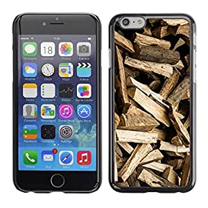"""Pulsar Snap-on Series Teléfono Carcasa Funda Case Caso para Apple Iphone 6 Plus / 6S Plus ( 5.5 ) , Registros del patrón de Brown Logger"""""""