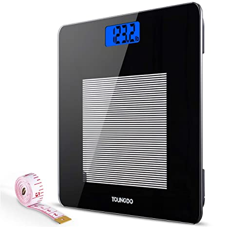 Báscula Digital Con LCD Pantalla, Báscula de Baño Digital de Alta Medición Precisa 28st/