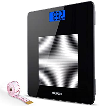 Stupendous Youngdo Digital Bathroom Scale Highly Accurate Body Weight Scales With Body Tape Measure Download Free Architecture Designs Embacsunscenecom